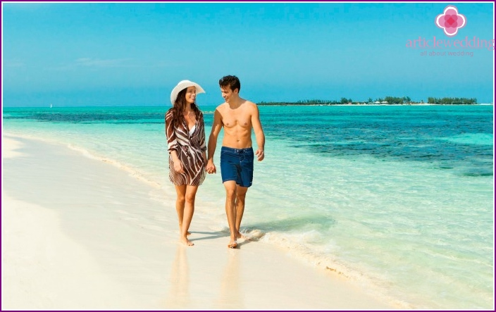 Honeymoon trip to the Maldives