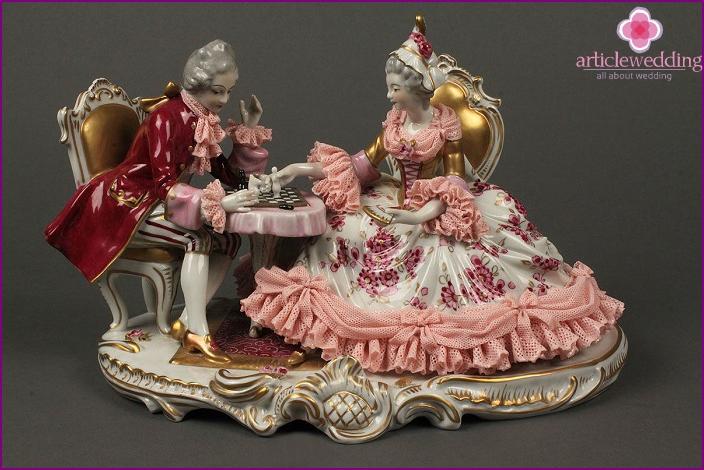 Anniversary porcelain figurine.