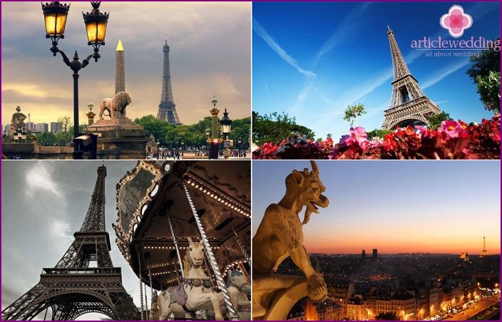 Parisian newlyweds vacation