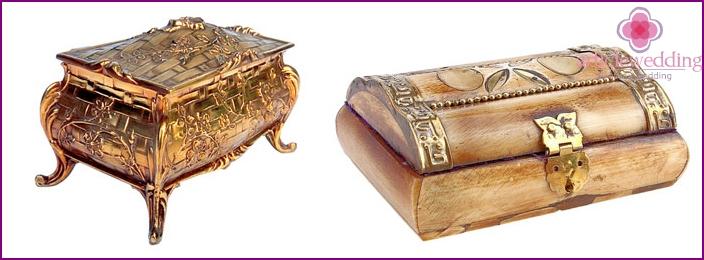 Schöne Box - ein Geschenk für eine Kupferhochzeit