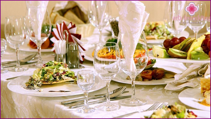 Laid banquet table