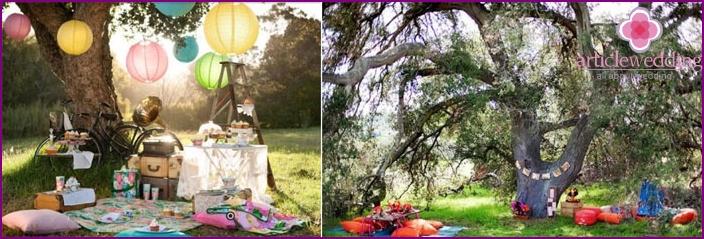 Dekoration des festlichen Picknicks zum Chintz-Jubiläum