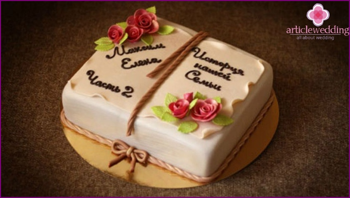 Cake for the celebration of 2 wedding anniversaries