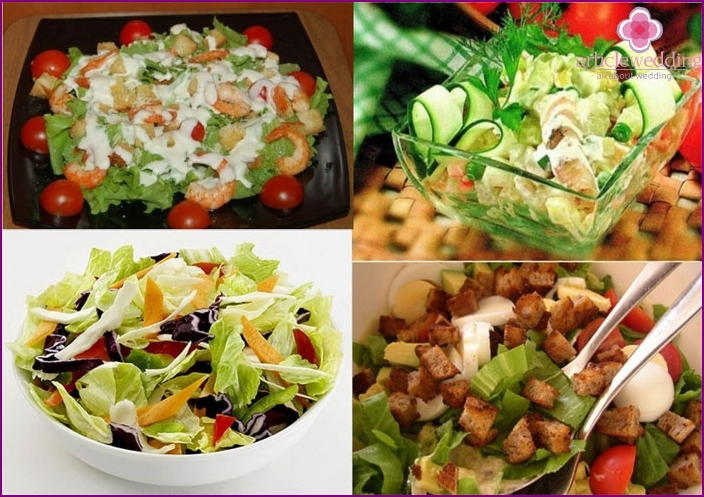Appetizing salads - the best treat for a calico holiday