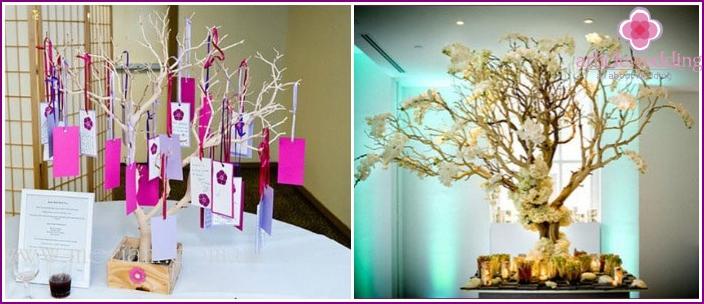 Paper anniversary wish trees