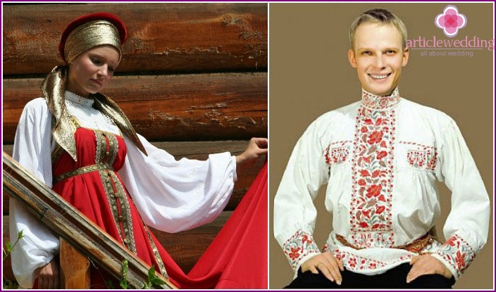 Costumes for a traditional cast-iron wedding