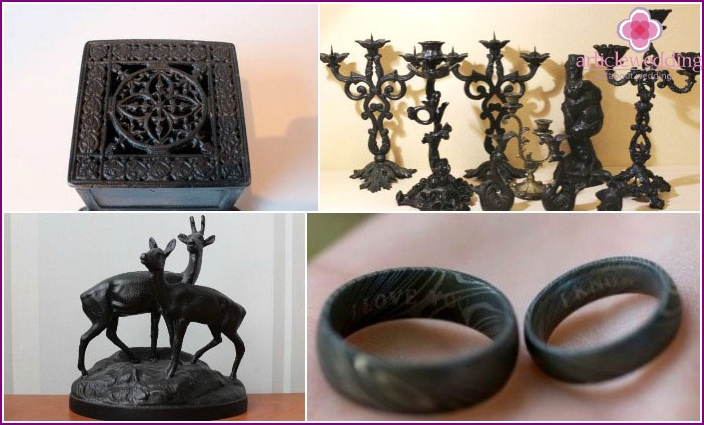 Gift options for a cast-iron wedding