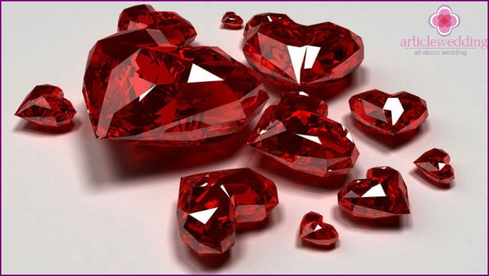 Gemstone Ruby Symbol 40th Anniversary