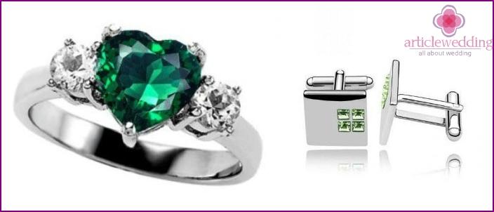 Emerald-vuosipäivän lahjat