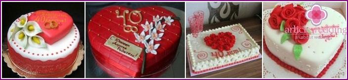 Ruby Anniversary Wedding Cakes
