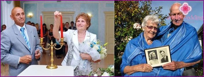 Hochzeitstag: Ehepartner Outfits in Blautönen
