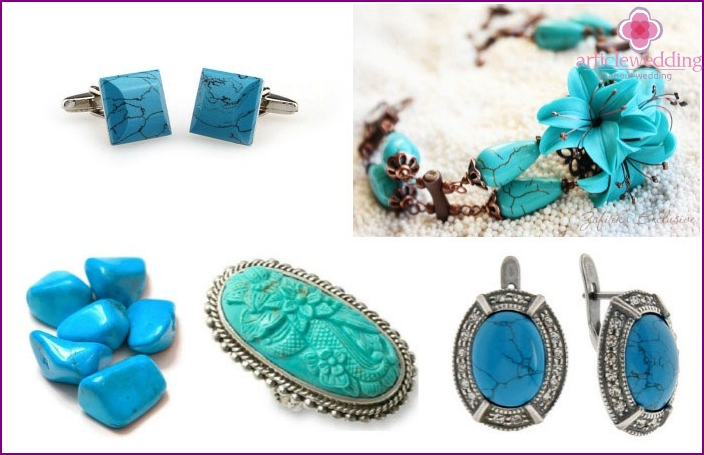 Jewelry with turquoise: gifts for 18 years of wedding