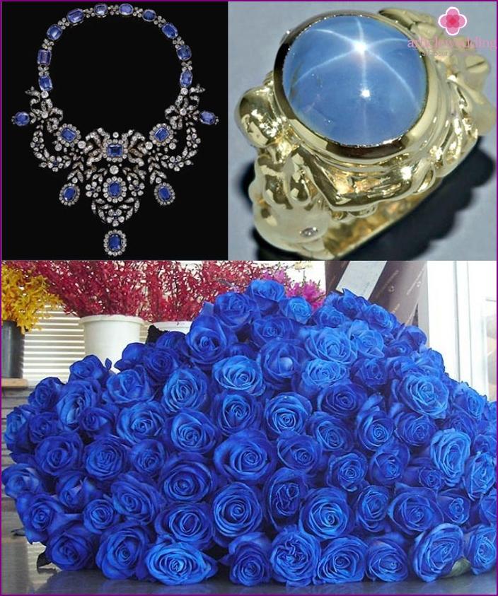 Saphir Hochzeitsgeschenke für geliebten Ehepartner