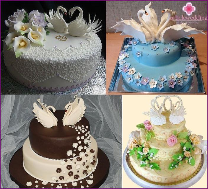 Kakku kruunattuille puolisoille