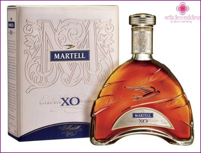 Gift for a sapphire wedding - 45-year-old cognac