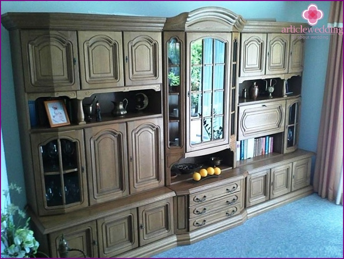 Oak furniture for the 80th wedding anniversary