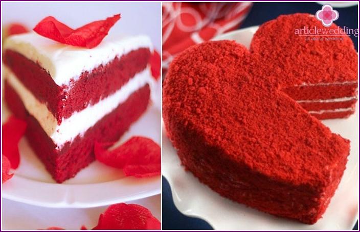 Roter Kuchen zum 100. Hochzeitstag