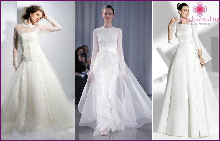 Geschlossene Brautkleider