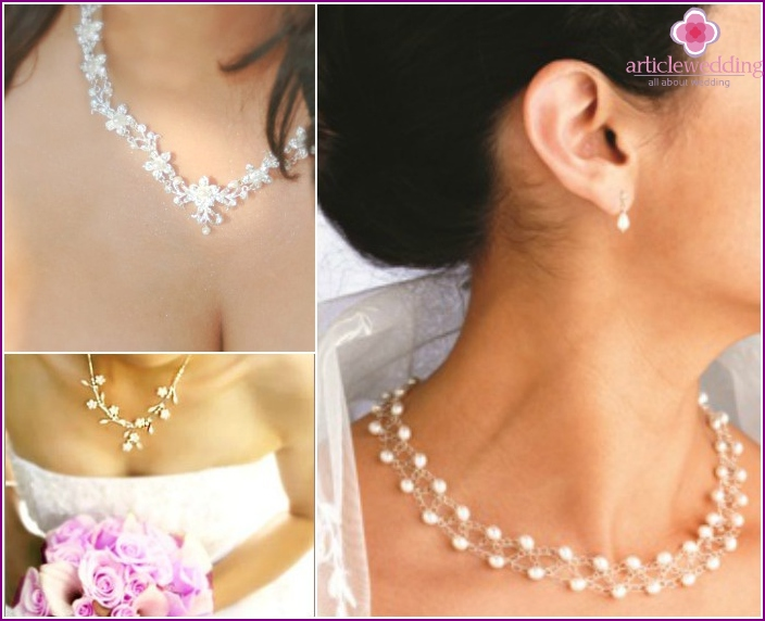Elegant necklaces and earrings