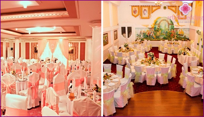Room decoration for a wedding