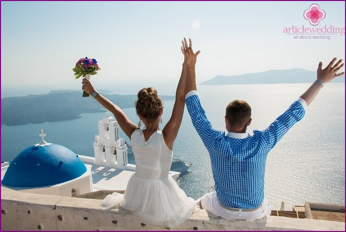 Santorini perfect for a wedding