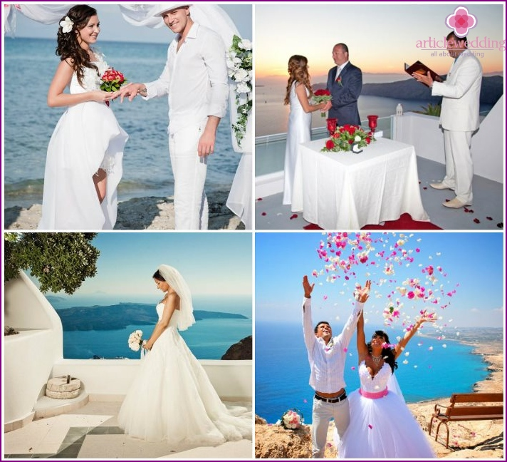 Photos of weddings in Greece
