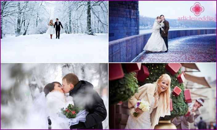 December Wedding Photoshoots