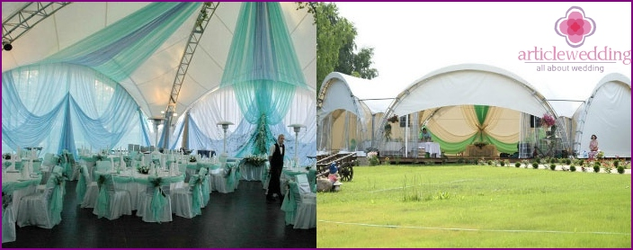 Wedding tent in the country