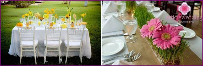 August Hochzeit Farbschema