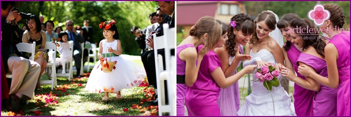 Interesting ideas for the July wedding