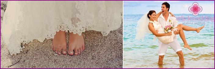 Hochzeit im Freien am Strand