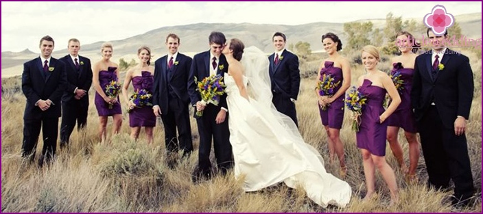 Hochzeitskleidung im Freien