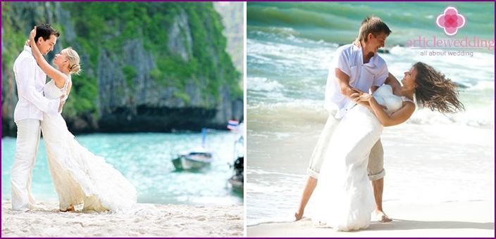 Ideen für ein Hochzeitsfoto-Shooting im Freien