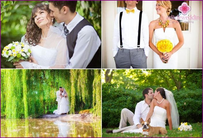Brautkleider von Juni Jungvermählten