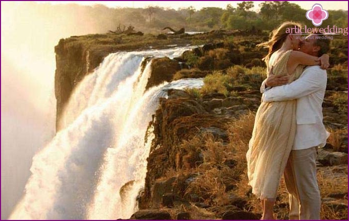Wedding at the African Victoria Falls