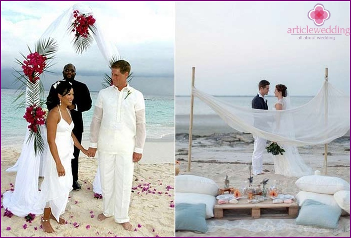 Wedding ceremony on the coast of Africa