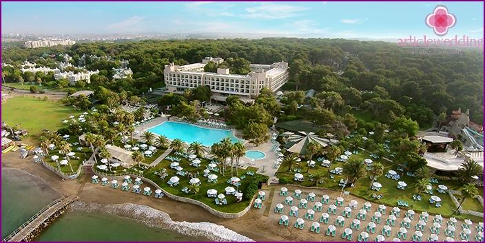 Side - a resort on the Mediterranean coast