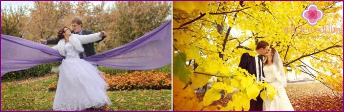 Goldener Herbst für eine Hochzeit