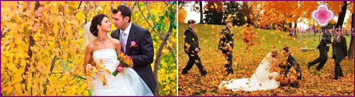 Oktober Hochzeitsfotos