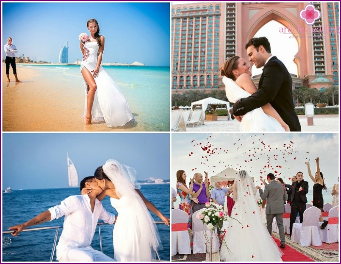 Newlyweds photo shoot in Dubai