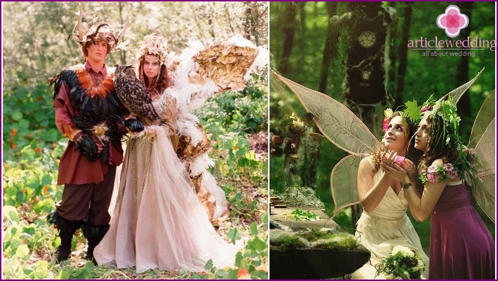 Fairytale dress code for a forest wedding