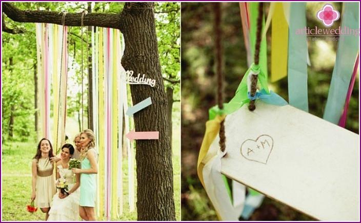 Field forest wedding