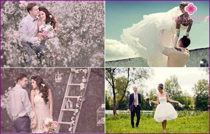 May wedding photoshoots