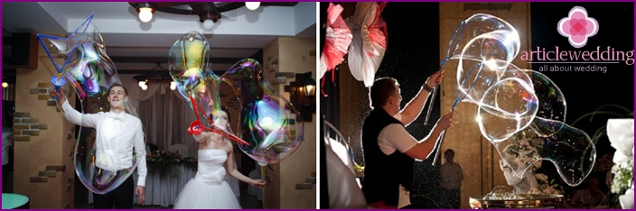 Soap Bubble Wedding Show