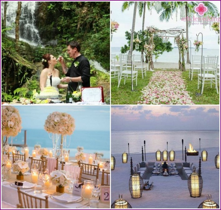 Photos of wedding ceremonies in Thailand