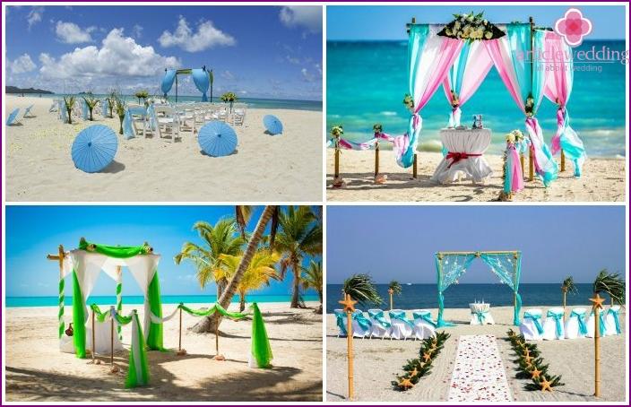 Wählen Sie einen guten Ort zum Malen am Strand