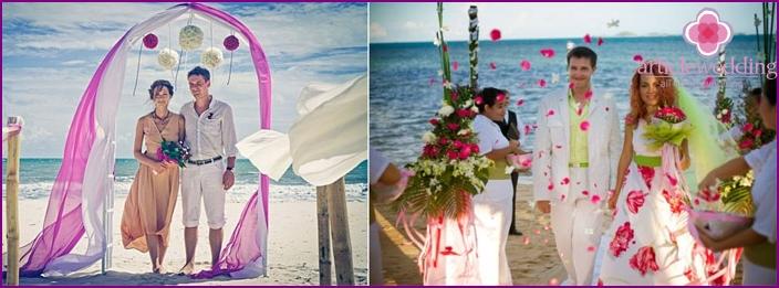 Hochzeitsstrandzeremonie