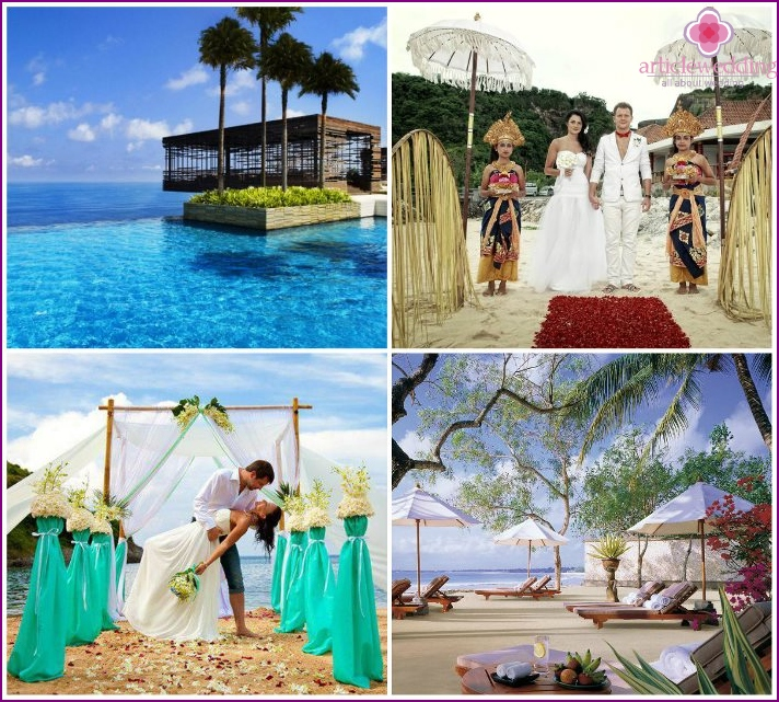 Wedding on the Balinese coast of Jimbaran