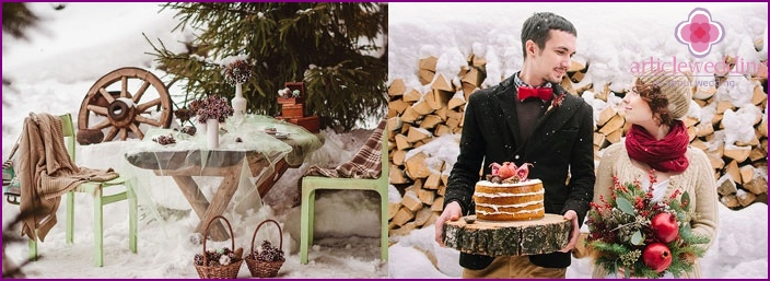 How to organize a winter wedding picnic