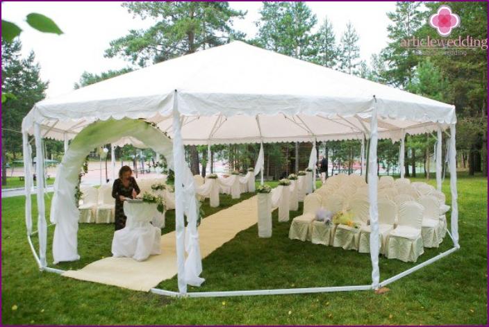 Open air wedding decoration